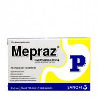 Thuốc điều trị loét dạ dày, tá tràng Mepraz (7 vỉ x 4 viên/hộp)