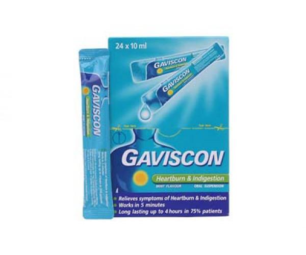 Thuốc điều trị loét dạ dày - tá tràng Gaviscon 10ml (24 gói/hộp)