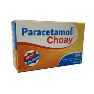 Thuốc giảm đau, hạ sốt Paracetamol Choay Sanofi 500mg (10 vỉ x 10 viên/hộp)