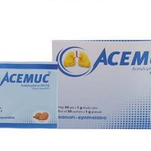 Thuốc cốm điều trị các rối loạn tiết dịch đường hô hấp vị cam Acemuc 200mg (30 gói/hộp)