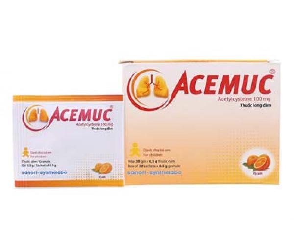 Thuốc tiêu đờm Acemuc 100mg (30 gói/hộp)