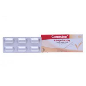 Viên đặt âm đạo trị nấm Canesten 100mg (6 viên/hộp)