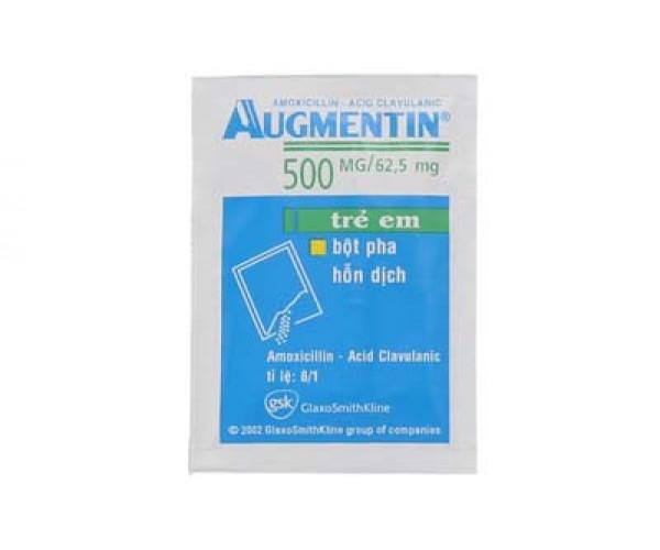 Thuốc kháng sinh Augmentin 500/62.5mg (12 gói/hộp)