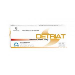 Thuốc trị rối loạn nhu động ruột Detriat (2 vỉ x 10 viên/hộp)