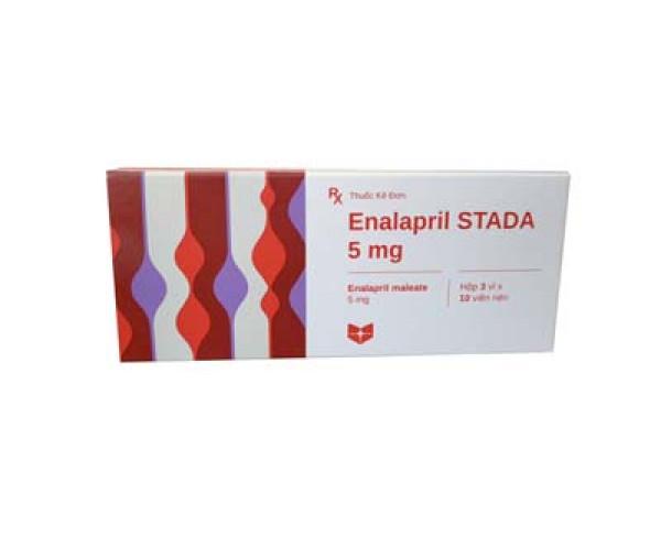 Thuốc điều trị suy tim sung huyết Enalapril Stada 5mg (3 vỉ x 10 viên/hộp)