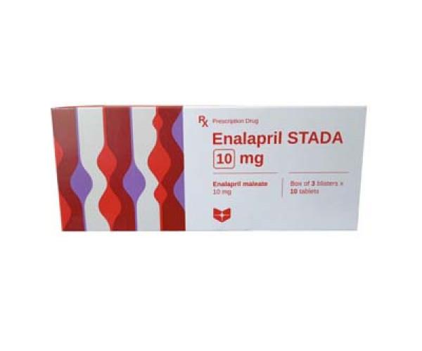 Thuốc điều trị suy tim sung huyết Enalapril Stada 10mg (3 vỉ x 10 viên/hộp)