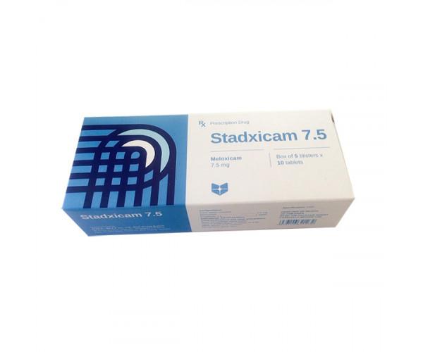 Thuốc giảm đau, kháng viêm Stadxicam 7.5mg (5 vỉ x 10 viên/hộp)