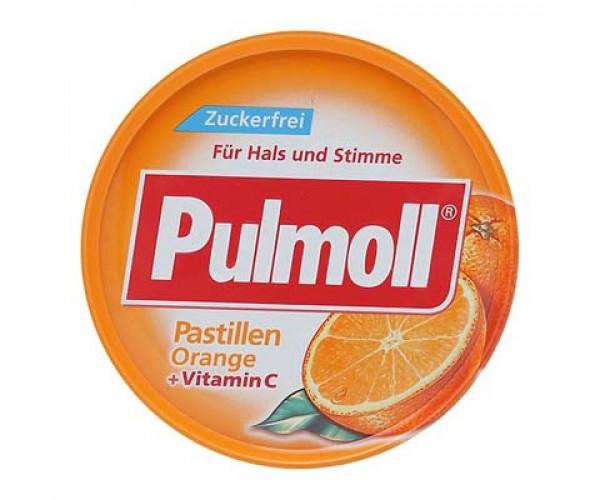 Kẹo ngậm ho Pulmoll Pastillen Orange + Vitamin C (50g/hộp)