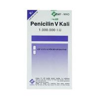 Thuốc kháng sinh Penicilin V Kali 1.000.000 I.U Vidipha (10 vỉ x 10 viên/hộp)