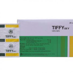 Thuốc trị cảm cúm Tiffy Dey (25 vỉ x 4 viên/hộp)