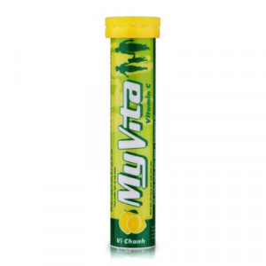 Viên nén sủi bọt bổ sung vitamin & khoáng chất Myvita hương chanh (20 viên/tube)