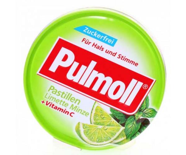 Kẹo ngậm ho Pulmoll Pastillen Limette Minze + Vitamin C (50g/hộp)