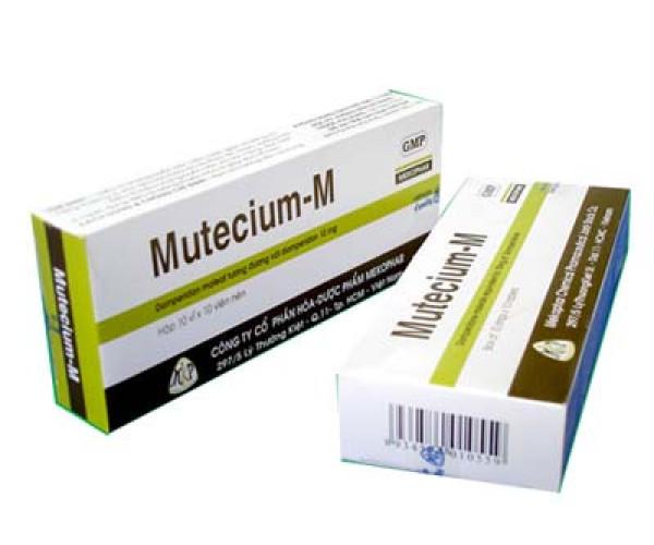 Thuốc chống nôn Mutecium-M (10 vỉ x 10 viên/hộp)