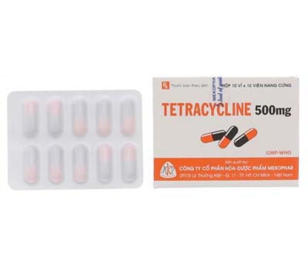 Thuốc kháng sinh Tetracycline 500mg MKP (10 vỉ x 10 viên/hộp)