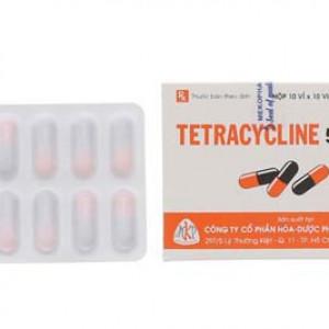 Tetracycline 500mg MKP (10 vỉ x 10 viên/hộp)