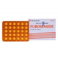 Thuốc lợi tiểu Furosemide 40mg MKP (10 vỉ x 30 viên/hộp)