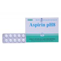 Thuốc giảm đau, kháng viêm Aspirin pH8 500mg MKP (20 vỉ x 10 viên/hộp)
