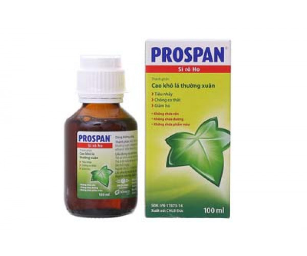 Siro điều trị viêm đường hô hấp kèm theo ho Prospan (100ml)