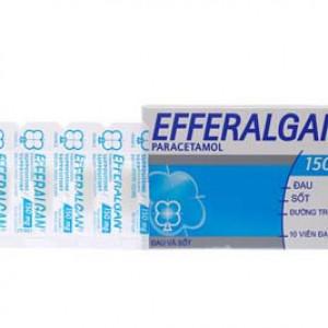 Thuốc giảm đau, hạ sốt Efferalgan 150mg dạng viên đặt (2 vỉ x 5 viên/hộp)