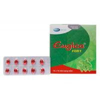 Thuốc điều trị các chứng ho, đau họng, sổ mũi, cảm cúm Eugica Fort (10 vỉ x 10 viên/hộp)