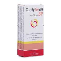 Thuốc điều trị dự phòng thiếu sắt, Acid Folic trong thời kỳ có thai Tardyferon B9 (3 vỉ x 10 viên/hộp)