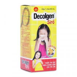 Thuốc điều trị các triệu chứng cảm cúm cho trẻ em Decolgen (60ml)