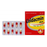 Thuốc trị cảm cúm, hạ sốt Coldacmin Flu DHG (10 vỉ x 10 viên/hộp)