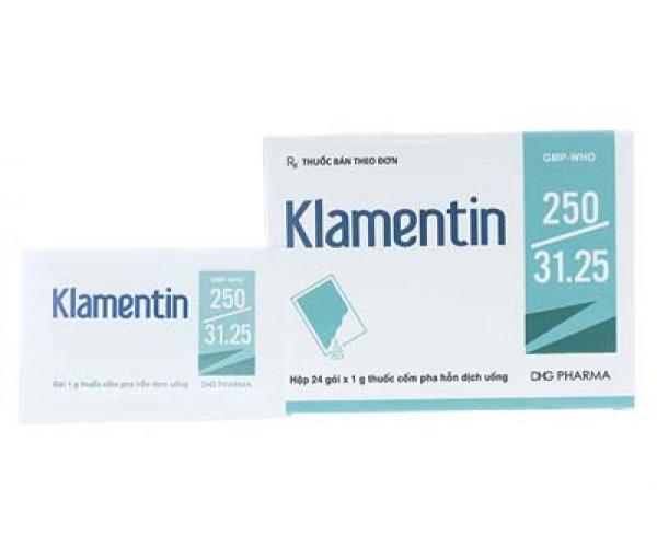 Thuốc kháng sinh Klamentin 250/31.25mg (24 gói/hộp)