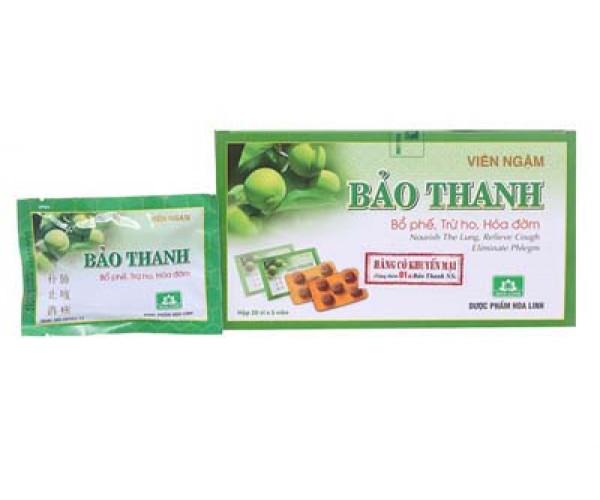 Viên ngậm ho Bảo Thanh (20 vỉ x 5 viên/hộp)