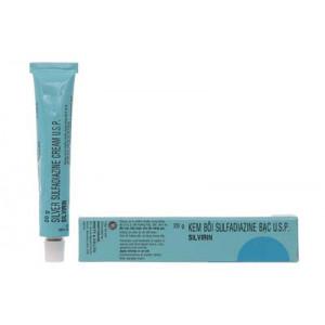 Kem bôi chống nhiễm khuẩn vết thương Sulfadiazine Bạc Silvirin (20g)