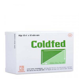 Thuốc giảm đau, hạ sốt Coldfed (10 vỉ x 10 viên/hộp)