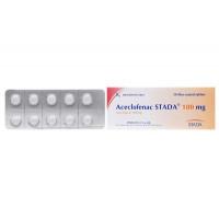 Thuốc giảm đau, kháng viêm Aceclofenac Stada 100mg (5 vỉ x 10 viên/hộp)