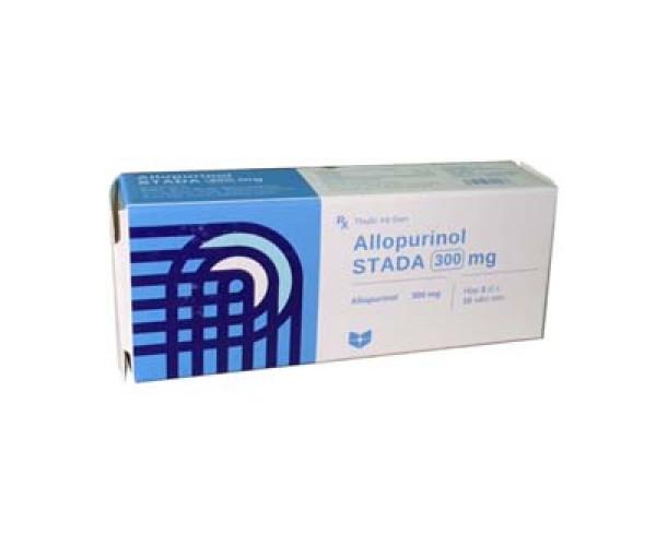 Thuốc trị gout Allopurinol Stada 300mg (3 vỉ x 10 viên/hộp)