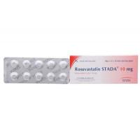 Thuốc điều trị mỡ máu Rosuvastatin Stada 10mg (3 vỉ x 10 viên/hộp)