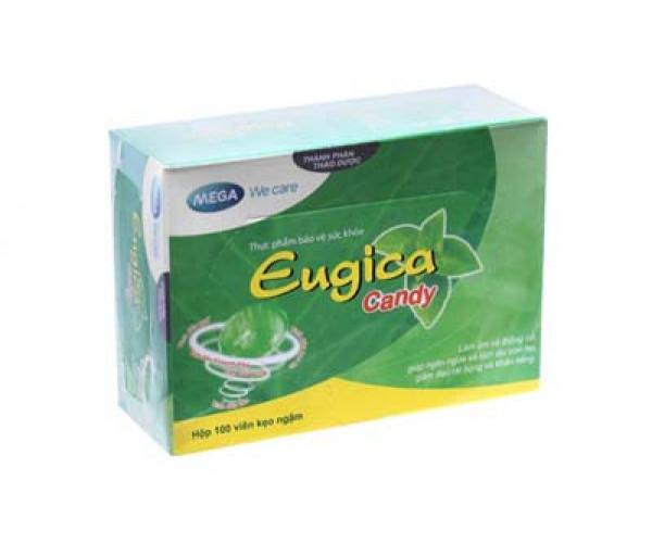 Viên ngậm giảm ho, viêm họng, rát cổ Eugica Candy (100 viên/hộp)