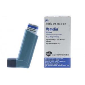 Thuốc xịt điều trị hen Ventolin Inhaler 100mcg