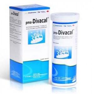 Viên sủi hỗ trợ và điều trị tình trạng thiếu hụt canxi Divacal (20 viên/tube)
