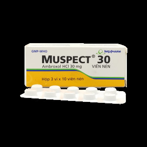 Thuốc trị viêm phế quản  Muspect (3 vỉ x 10 viên/hộp)