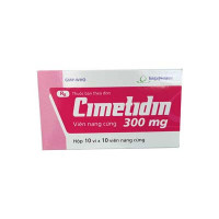 Thuốc điều trị viêm loét dạ dày tá tràng Cimetidine 300mg Imexpharm (10 vỉ  x 10 viên/hộp)
