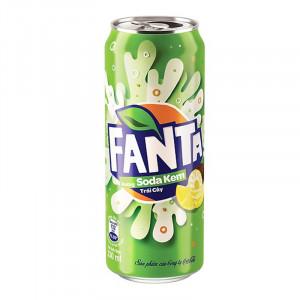 Nước giải khát Fanta hương soda kem trái cây 330ml