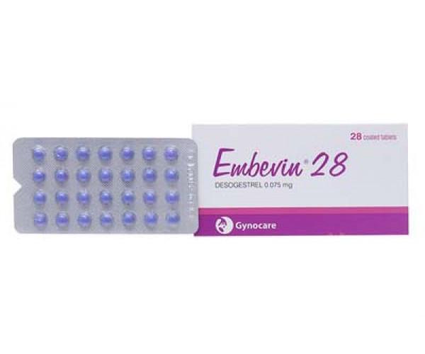 Thuốc tránh thai hằng ngày Embevin 28 (28 viên/hộp)