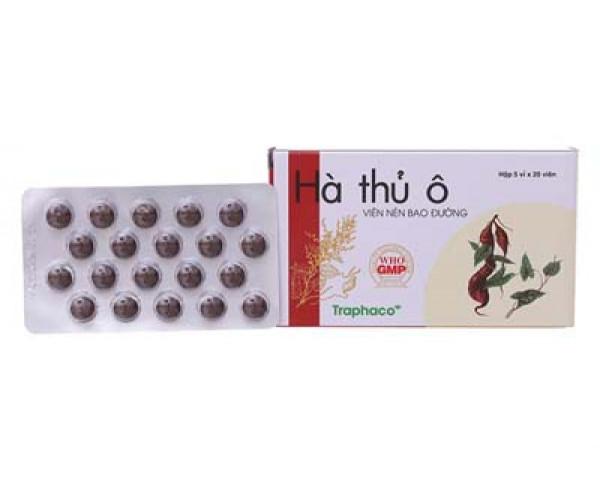 Thuốc điều trị thiếu máu, chóng mặt, ù tai Hà Thủ Ô Traphaco (5 vỉ x 20 viên/hộp)