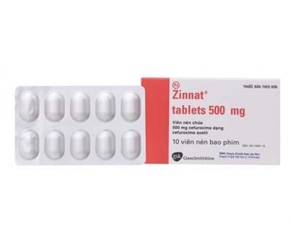 Thuốc kháng sinh Zinnat Tablets 500mg (10 viên/hộp)