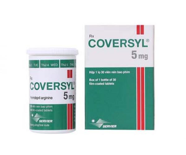 Thuốc điều trị cao huyết áp Coversyl 5mg (30 viên/chai)