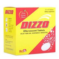 Thực phẩm chức năng làm giảm đầy hơi, khó tiêu và ợ chua Dizzo (12 vỉ x 4 viên/hộp)