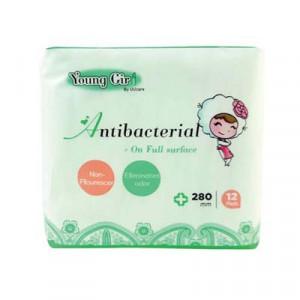 Băng vệ sinh kháng khuẩn ngày và đêm UUcare Young Girl Antibacterial 280mm (12 miếng/gói)