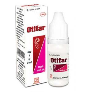 Thuốc nhỏ điều trị viêm tai Otifar (8ml)