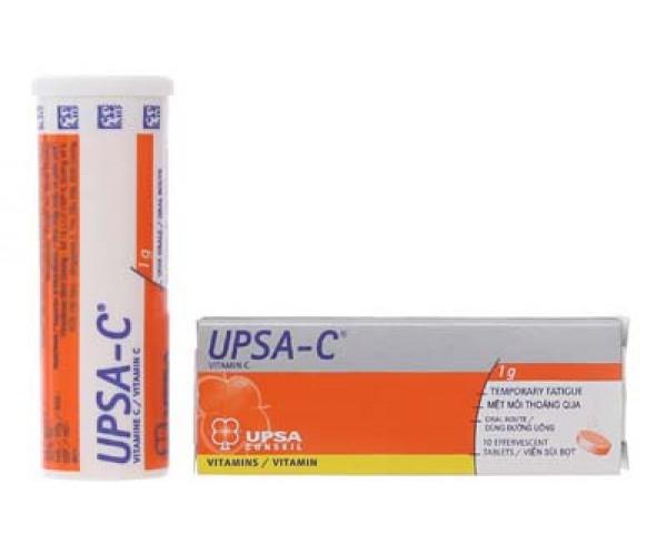 Viên sủi điều trị thiếu hụt Vitamin C Upsa-C 1g (10 viên/tube)