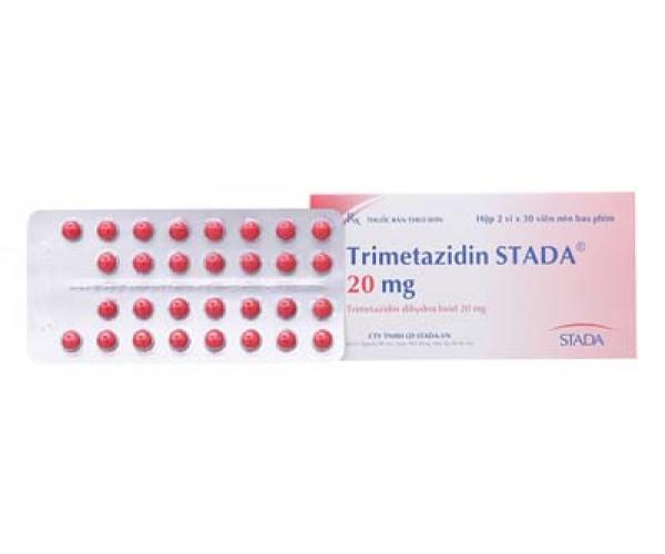 Thuốc điều trị đau thắt ngực Trimetazidin Stada 20mg (2 vỉ x 30 viên/hộp)