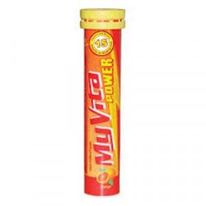 Viên nén sủi bọt bổ sung vitamin & khoáng chất Myvita Power hương cam (20 viên/tube)